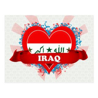 Vintage I Love Iraq Postcard