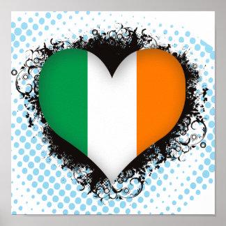 Vintage I Love Ireland Poster