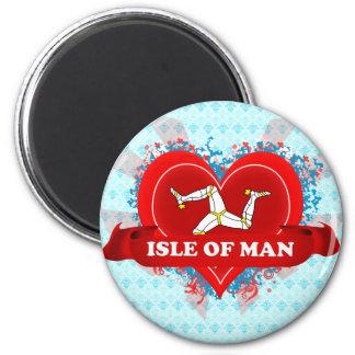 Vintage I Love Isle Of Man 2 Inch Round Magnet
