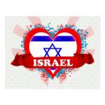 Vintage I Love Israel Postcard