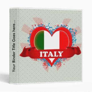 Vintage I Love Italy Binders