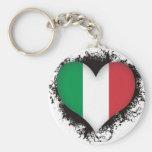 Vintage I Love Italy Key Chains