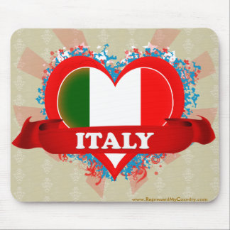 Vintage I Love Italy Mouse Pad