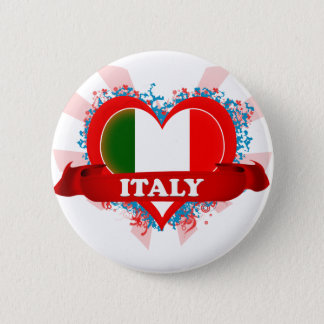 Vintage I Love Italy Pinback Button