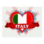 Vintage I Love Italy Postcard
