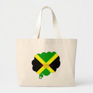 Vintage I Love Jamaica Beautiful Land of Spring Large Tote Bag