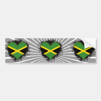 Vintage I Love Jamaica Car Bumper Sticker