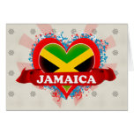 Vintage I Love Jamaica Greeting Card
