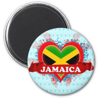 Vintage I Love Jamaica Magnet