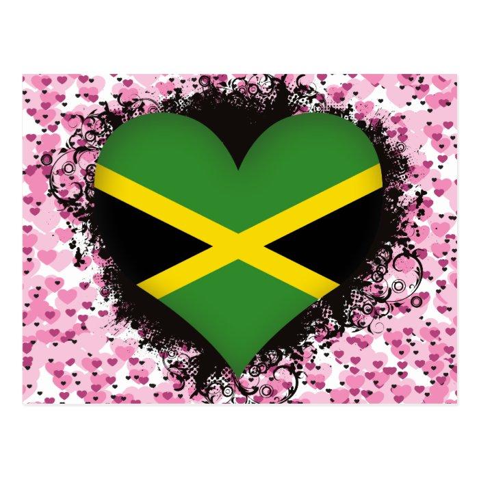 Vintage I Love Jamaica Postcard