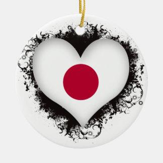 Vintage I Love Japan Ornaments