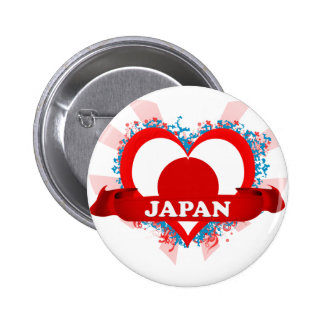 Vintage I Love Japan Pinback Button