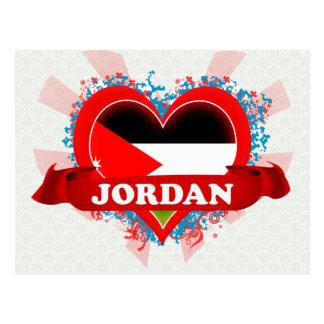Vintage I Love Jordan Post Card