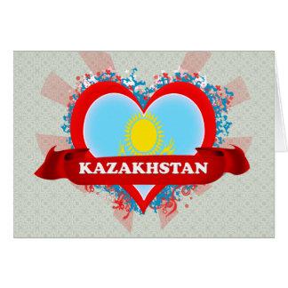 Vintage I Love Kazakhstan Greeting Cards
