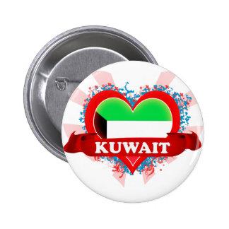 Vintage I Love Kuwait Pinback Button
