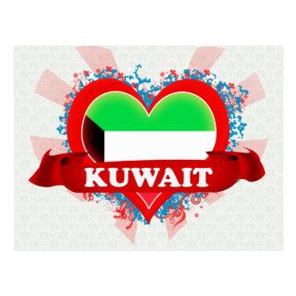 Vintage I Love Kuwait Postcard