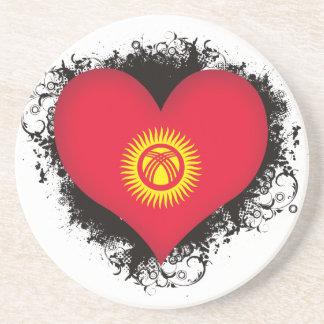 Vintage I Love Kyrgyzstan Coasters