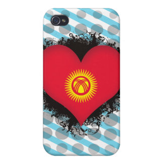 Vintage I Love Kyrgyzstan Cover For iPhone 4