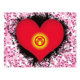 Vintage I Love Kyrgyzstan Postcard