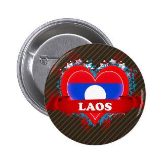 Vintage I Love Laos Buttons