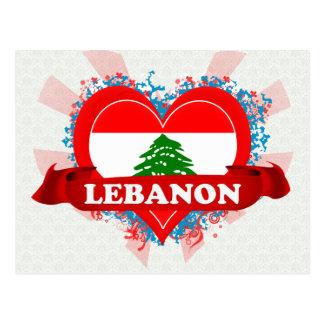 Vintage I Love Lebanon Postcard