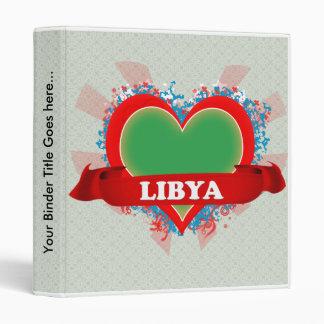 Vintage I Love Libya Binder