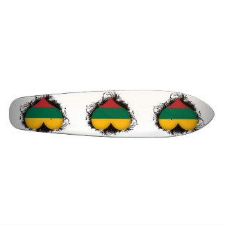 Vintage I Love Lithuania Skate Board Deck