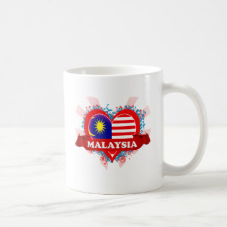 Vintage I Love Malaysia Classic White Coffee Mug