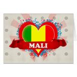 Vintage I Love Mali Greeting Cards