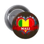 Vintage I Love Mali Pinback Buttons