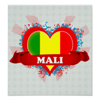 Vintage I Love Mali Poster