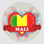 Vintage I Love Mali Stickers
