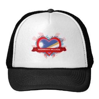 Vintage I Love Marshall Islands Mesh Hat