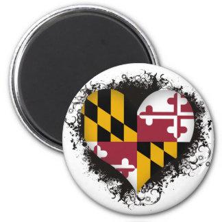 Vintage I Love Maryland 2 Inch Round Magnet