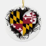 Vintage I Love Maryland Ceramic Ornament