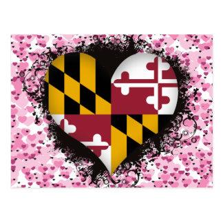 Vintage I Love Maryland Postcard