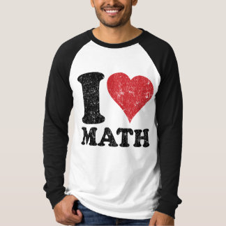 Vintage I Love Math Basic Long Sleeve Raglan T-Shirt