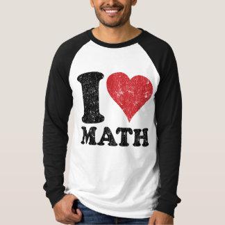 Vintage I Love Math Basic Long Sleeve Raglan T-Shirt