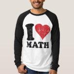 Vintage I Love Math Basic Long Sleeve Raglan Tees