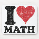 Vintage I Love Math Mousepad
