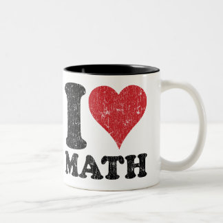Vintage I Love Math Coffee Mugs