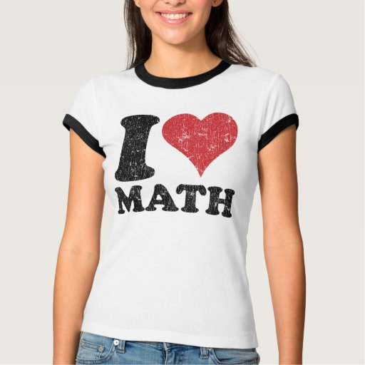 Vintage I Love Math Ringer T-Shirt
