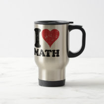 Vintage I Love Math Travel/Commuter Mug