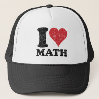 Vintage I Love Math Trucker Hat