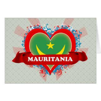 Vintage I Love Mauritania Greeting Card