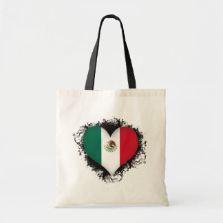 Vintage I Love Mexico Tote Bags