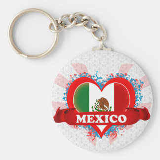 Vintage I Love Mexico Keychain