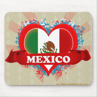 Vintage I Love Mexico Mouse Pad