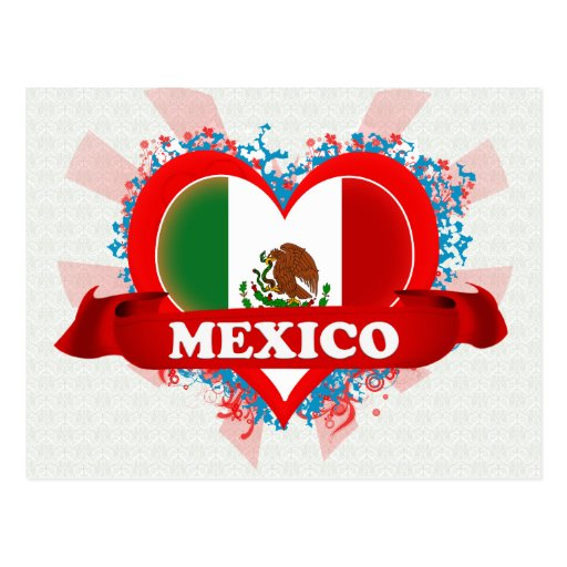 Vintage I Love Mexico Postcard