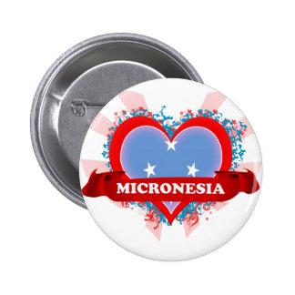 Vintage I Love Micronesia 2 Inch Round Button